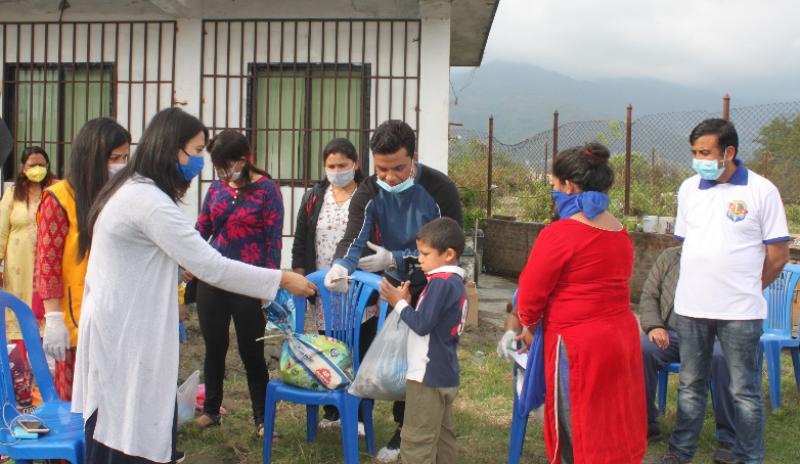 लायन्स क्लब अफ काठमाडौं, नेपालयद्धारा एक सय ६९ परिवारलाई नगदसहित राहत वितरण